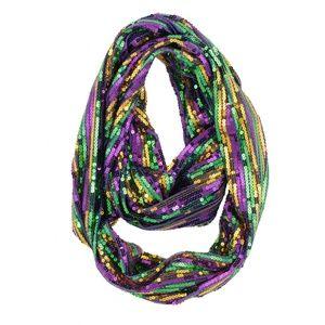 Mardi Gras Sequined Infinity Scarf